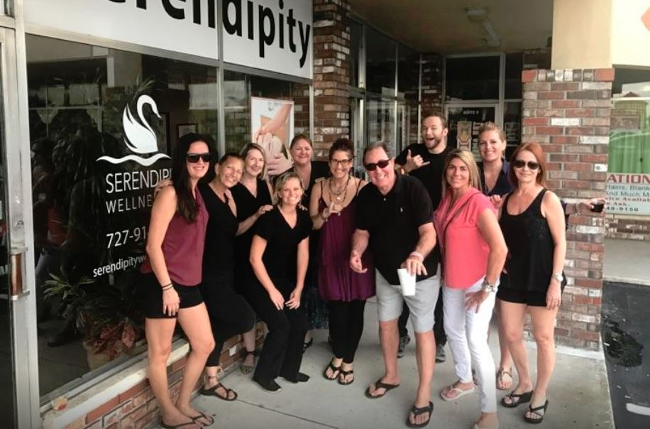 After a party at Serendipity Wellness Spa in St. Pete