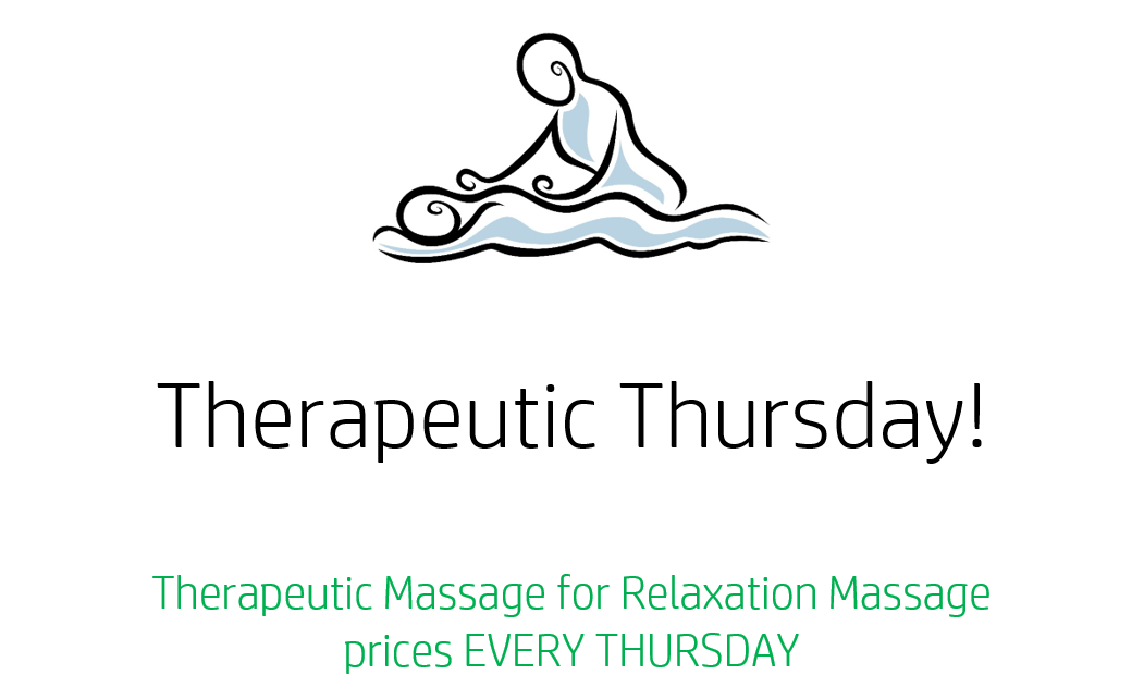 Therapeutic Massage promotion Serendipity Wellness Spa