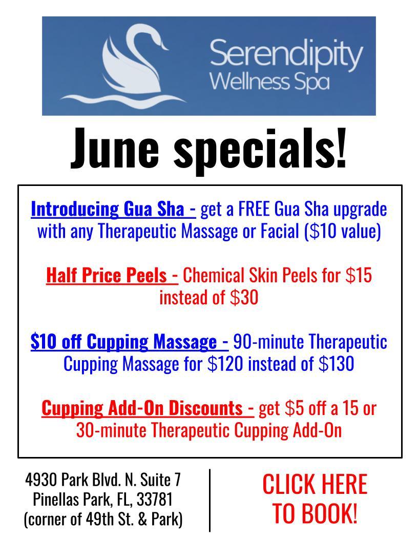 Serendipity Wellness Spa June Specials